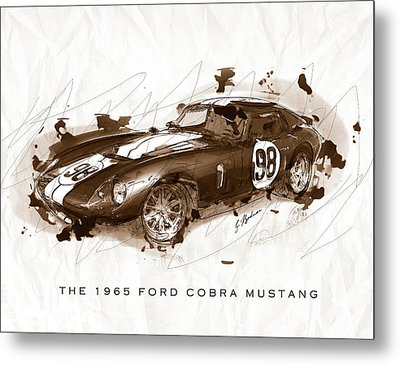 The 1965 Ford Cobra Mustang Metal Print by Gary Bodnar