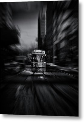 The 512 St. Clair Streetcar Toronto Canada Flow Metal Print by Brian Carson