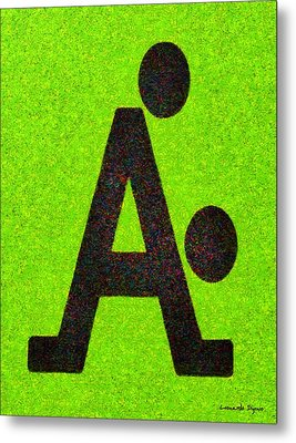 The A With Style Lime - Pa Metal Print