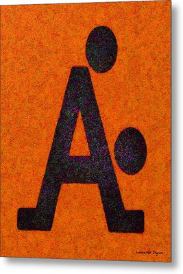 The A With Style Orange - Pa Metal Print
