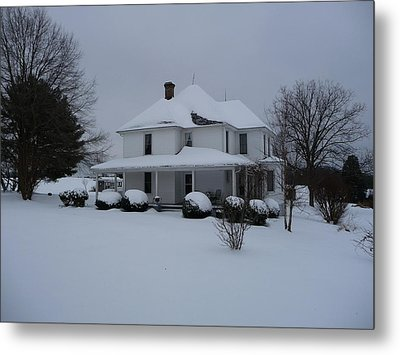 Metal Print featuring the photograph The Adrian Shuford House - Winter 2010 by Joel Deutsch
