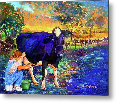 The Agronomist Metal Print by Estela Robles