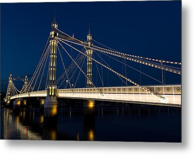 The Albert Bridge London Metal Print
