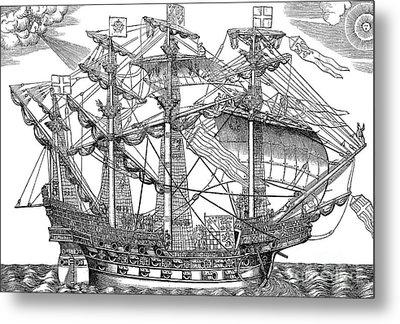 The Ark Raleigh, The Flagship Of The English Fleet Metal Print