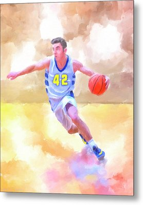 The Art Of Basketball Metal Print by Mark Tisdale