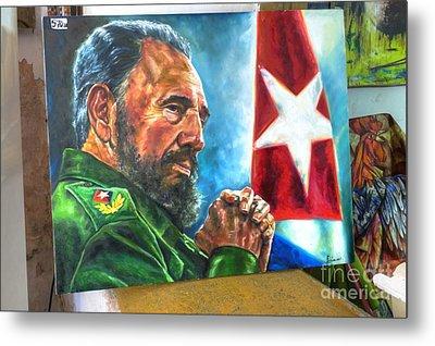 The Arts In Cuba Fidel Castro 2 Metal Print
