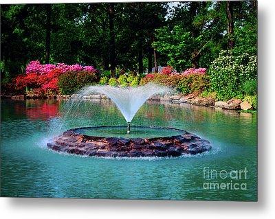 The Azalea Pond At Honor Heights Park Metal Print