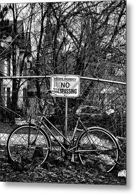 Metal Print featuring the photograph The Bad Bicycle No 2 by Brian Carson