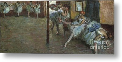 The Ballet Rehearsal, 1891 Metal Print by Edgar Degas