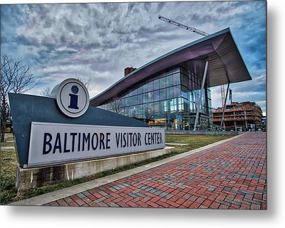 Metal Print featuring the photograph The Baltimore Visitors Center by Mark Dodd