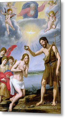 The Baptism Of Christ Metal Print