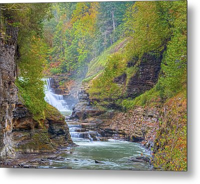 The Bashful Lower Falls Metal Print by Angelo Marcialis