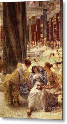 The Baths Of Caracalla Metal Print by Sir Lawrence Alma-Tadema