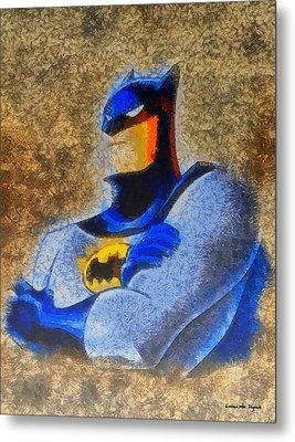 The Batman - Da Metal Print by Leonardo Digenio
