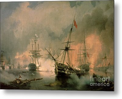 The Battle Of Navarino Metal Print by Ivan Konstantinovich Aivazovsky
