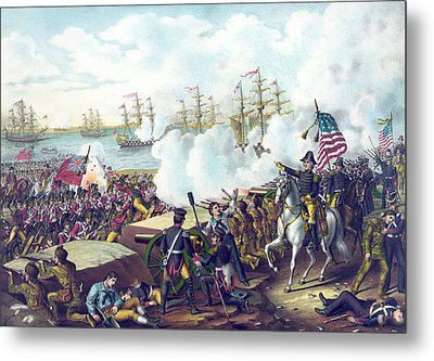 The Battle Of New Orleans Metal Print by American School