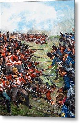 The Battle Of Waterloo, 1815 Metal Print