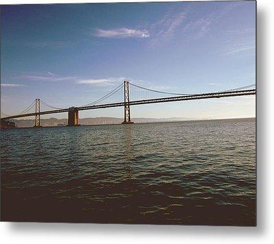 The Bay Bridge- By Linda Woods Metal Print