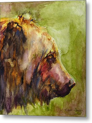 Metal Print featuring the painting The Bear by P Maure Bausch