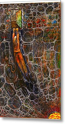 The Beast Steps Into The Old Man's Cabin Metal Print by Al Goldfarb
