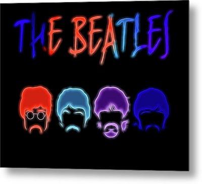 The Beatles Electric Poster Metal Print