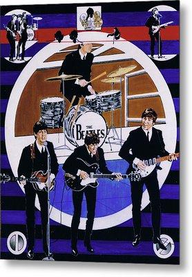 The Beatles - Live On The Ed Sullivan Show Metal Print