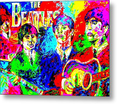 The Beatles Metal Print by Mike OBrien