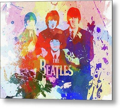The Beatles Paint Splatter  Metal Print by Dan Sproul