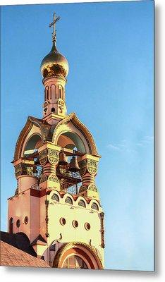 The Bell Tower Of The Temple Of Grand Duke Vladimir Metal Print