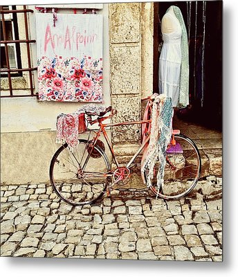 The Bicycle As Display  Metal Print