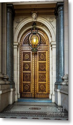 Metal Print featuring the photograph The Big Doors by Perry Webster