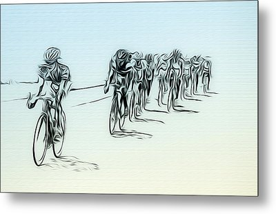 The Bike Race Metal Print by Bill Cannon