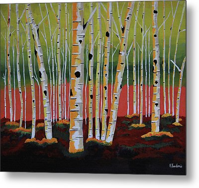 The Birch Forest Metal Print by Kathleen Sartoris