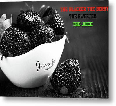 The Blacker The Berry Metal Print by Jerome Lynch