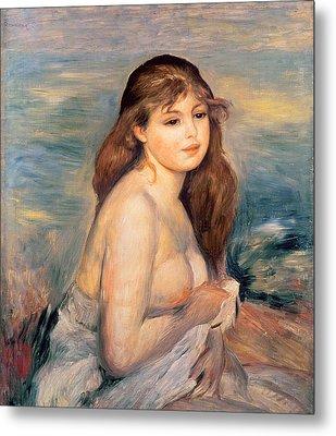 The Blonde Bather Metal Print by Pierre Auguste Renoir