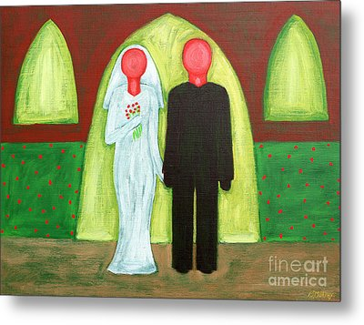 The Blushing Bride And Groom Metal Print by Patrick J Murphy