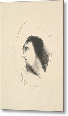 The Breadth And Flatness Of The Frontal Bone Metal Print by Odilon Redon