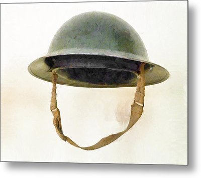 The British Brodie Helmet  Metal Print