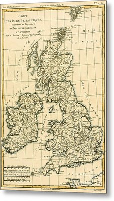 The British Isles Metal Print by Guillaume Raynal