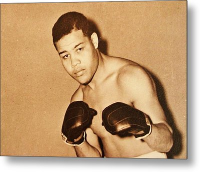 The Brown Bomber Metal Print by Pg Reproductions