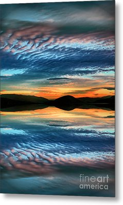 The Brush Strokes Of Evening Metal Print
