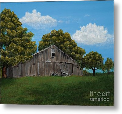 The Buggy Shed Metal Print