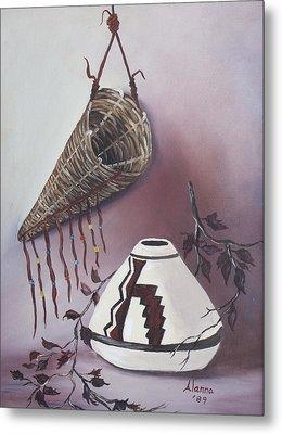 The Burden Basket Metal Print by Alanna Hug-McAnnally