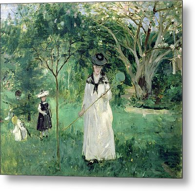 The Butterfly Hunt Metal Print by Berthe Morisot