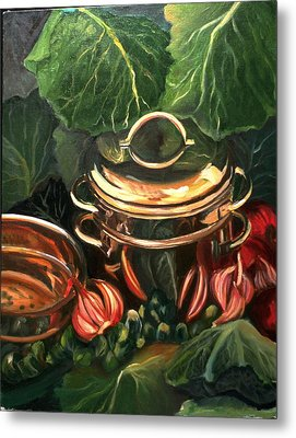 The Cabbage Pot Metal Print by Patricia Reed