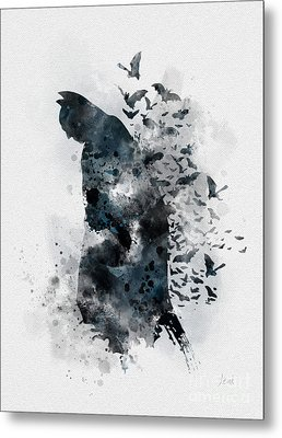The Caped Crusader Metal Print by Rebecca Jenkins