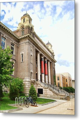 The Carnegie Library Metal Print by Debra Millet