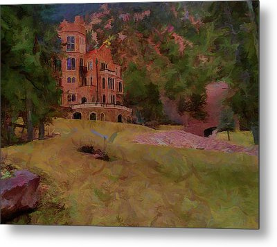 Metal Print featuring the digital art The Castle by Ernie Echols