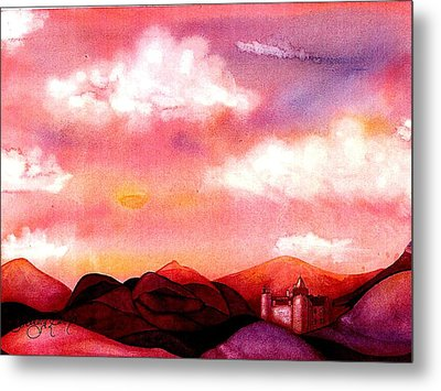 The Castle Metal Print by Rebecca Tacosa Gray