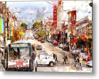 The Castro In San Francisco . 7d7573 Metal Print by Wingsdomain Art and Photography